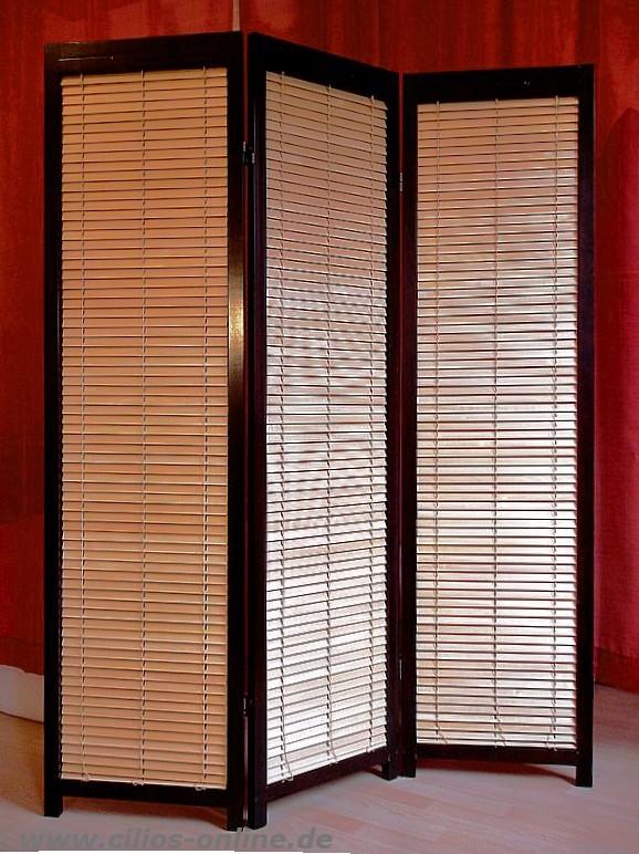lamellen paravent takehiko raumteiler mahagoni ebay. Black Bedroom Furniture Sets. Home Design Ideas