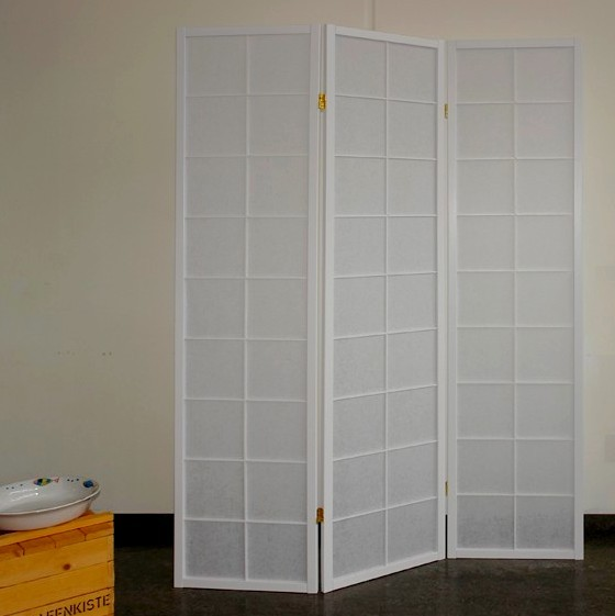paravent sho style 3 white paravents by cilios. Black Bedroom Furniture Sets. Home Design Ideas