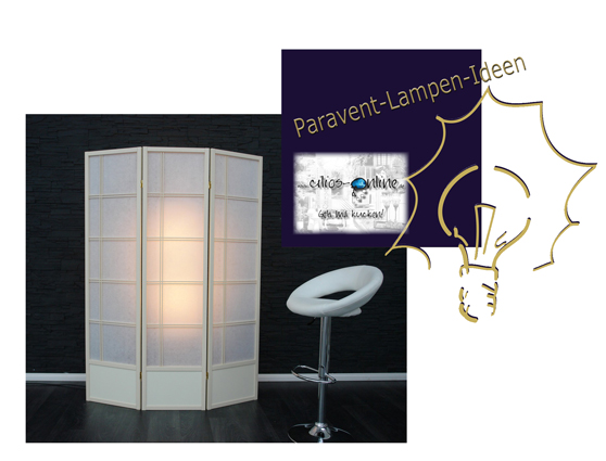 Paravent-Lampen Idee