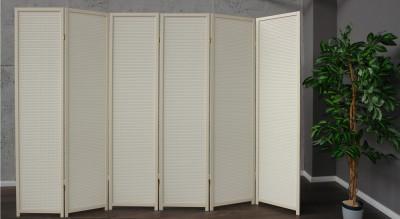 paravent white wood 6 dekorativer holz paravent wei. Black Bedroom Furniture Sets. Home Design Ideas
