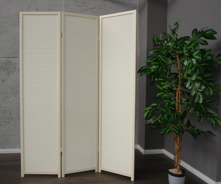 paravent cremo wood 3 dekorativer holz paravent creme. Black Bedroom Furniture Sets. Home Design Ideas