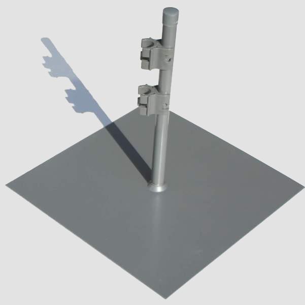 flacher standfu f r paravent flexi quadratische metall. Black Bedroom Furniture Sets. Home Design Ideas