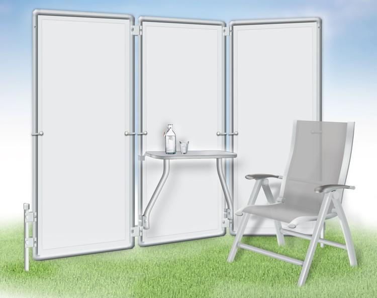 klapptisch f r paravent flexi f r noch mehr komfort auf dem balkon oder beim camping. Black Bedroom Furniture Sets. Home Design Ideas