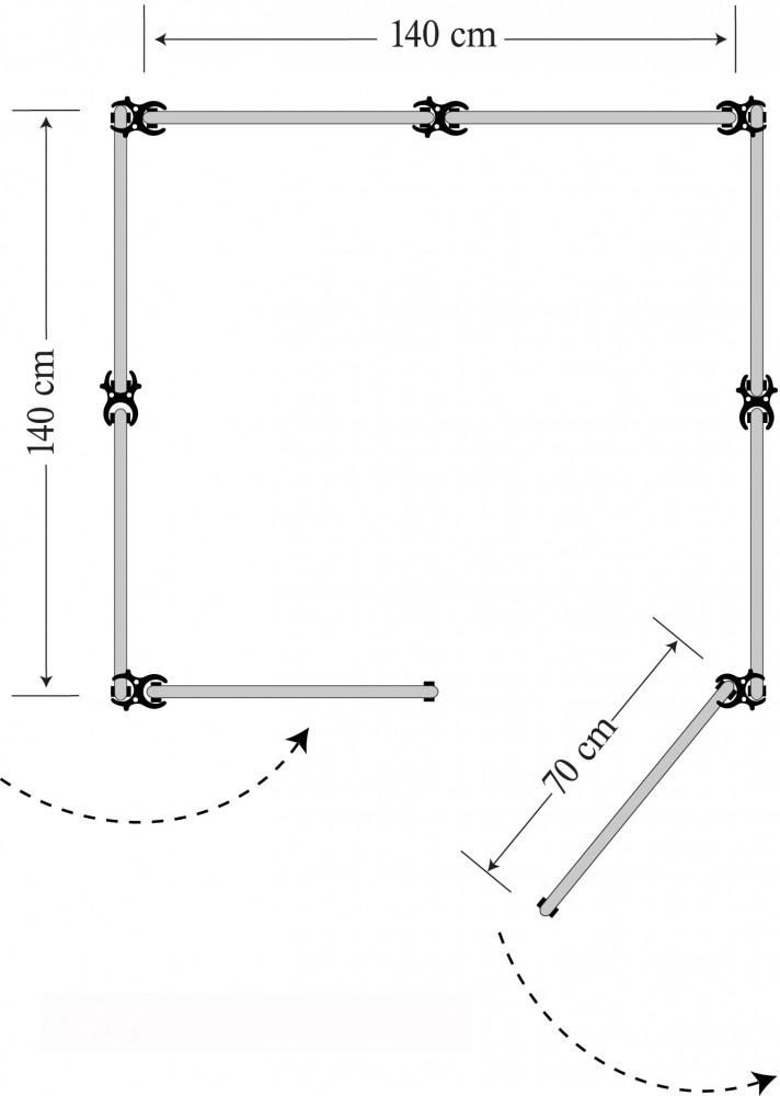 mobile umkleide servicekabine flexi 8 messe terracotta ebay. Black Bedroom Furniture Sets. Home Design Ideas