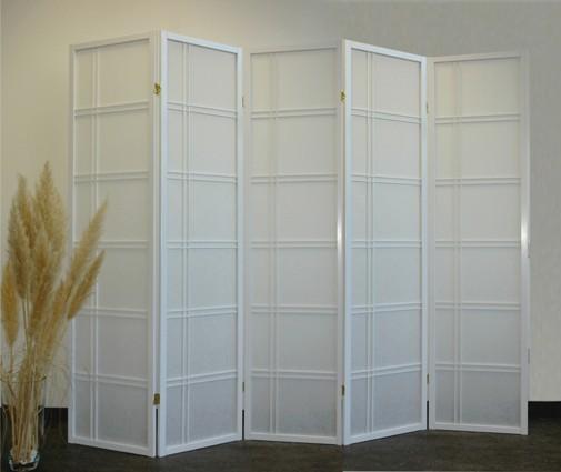 paravent shiro style 5 white paravents by cilios. Black Bedroom Furniture Sets. Home Design Ideas