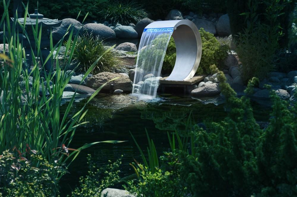 Ubbink mamba design wasserfall led aus edelstahl f r for Wasserfall mamba