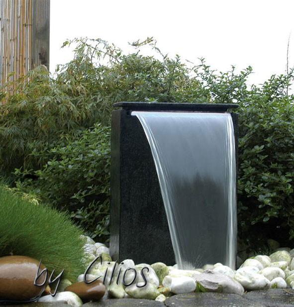 ubbink acquaarte wasserfall set vicenza led anschlussfertig inkl pumpe und wasserbecken. Black Bedroom Furniture Sets. Home Design Ideas