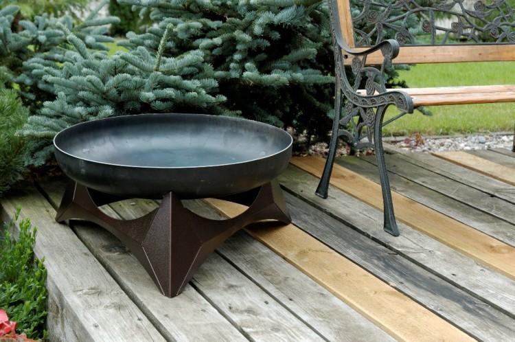 design feuerschale arka sockel kupferfarben. Black Bedroom Furniture Sets. Home Design Ideas