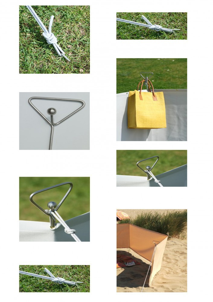 mobiler windschutz 90 x 500 cm farbe sisal stabiler sichtschutz windschutz f r camping. Black Bedroom Furniture Sets. Home Design Ideas